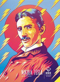 Tesla: IEEE Day 2014 on Behance