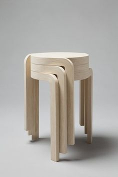 Karusell stackable stools by Staffan Holm Wooden Furniture, Cool Furniture, Furniture Design, Furniture Stores, Futuristic Furniture, Furniture Online, Discount Furniture, Kitchen Furniture, Contemporary Furniture
