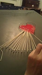 CoOl DIY - This pin has been crazy popular. Heres a way to create string art even if you dont own a saw or sander to finish your own piece of wood. #thatseasier #DIY #cool