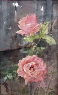 Rosas en Galería la Aurora - Pedro Cano (b. in Blanca, Murcia, Spain, 1944).