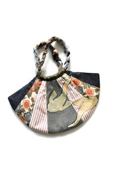 Playing Coy Fan Bag made using reclaimed by WiseSewcialTies, $30.00