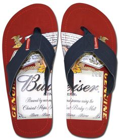 TBUDWEISER BEER | Budweiser Beer Sandals : Red Label | Officially Licensed Budweiser ...