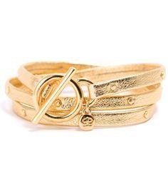 Gorjana Graham Leather Studded Wrap Bracelet  https://shoplately.com/product/295925/gorjana_graham_leather_studded_wrap_bracelet