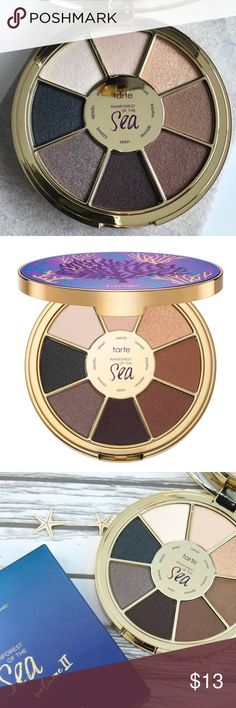Tarte Rainforest Of The Sea 2 New, comes with the box. $36 originally. Got this from boxycharm, I don't use these type of shades. tarte Makeup Eyeshadow
