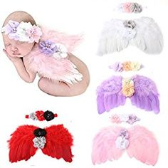 4 sets Feather Angel Wings Photo Prop Costume