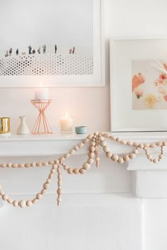 WOODEN BEAD GARLAND DIY