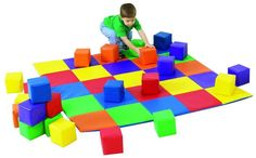 Joey's Matching Mat and Blocks Set | Childrens Factory