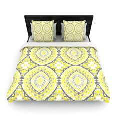 "Found it at Wayfair - ""Yellow Tessellation"" Woven Comforter Duvet Cover"