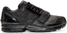 Juun.J - Black Leather Low-Top adidas by Juun.J Sneakers