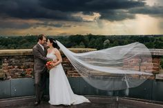 #wedding #pictures #shoot #urban #clouds #bridal #veil #view #photography #edopaul