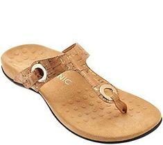 ba88a5d9165 Vionic Orthotic Adjustable T-Strap Sandals - Lana T Strap Sandals