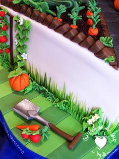 Spade, garden, allotment cake