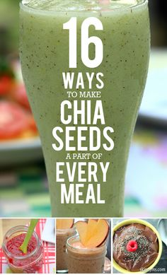 16 Ways to Make Chia Seeds a Part of Every Meal! #superfoods #chiaseeds #skinnyms #clean #recipes #healthy #recipe #eatclean