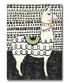 Ebern Designs 'Party Llama I' Painting on Canvas Alpacas, Canvas Artwork, Canvas Frame, Canvas Wall Art, Canvas Size, Llama Arts, Llama Llama, Stencils, Art Plastique