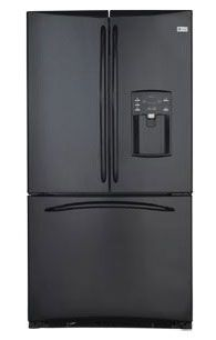 GE 220-240 Volt 50 Hz 90 cm French door Black Color #Refrigerator (Price: $2299.00).