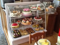 Miniature Cafe Roombox - Cake Counter