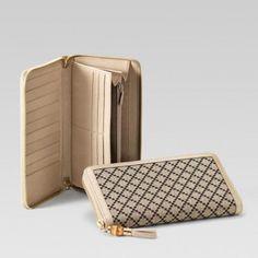 Gucci 232977 Fagjz 8495 mit Rundum-Rei?verschluss-Geldb?rse mit Quaste und Bambus Gucci Damen Portemonnaie