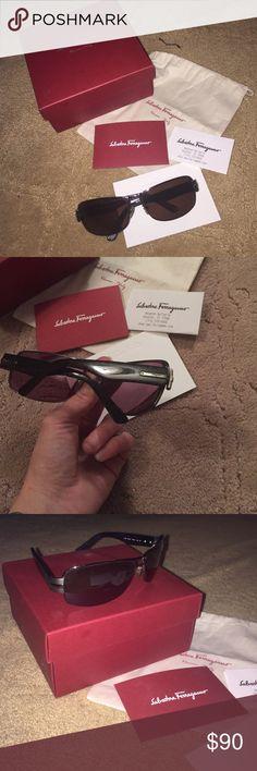 Salvatore ferragamo sun glasses Men's sun glasses has prescription  lenses in them. Salvatore Ferragamo Accessories Glasses
