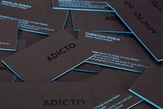 Currently browsing Adicto Buisness Cards for your design inspiration Letterpress Business Cards, Cool Business Cards, Business Branding, Business Design, Creative Business, Identity Branding, Visual Identity, Personal Identity, Identity Design