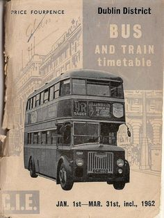 One of the many CIE Leyland buses used in Dublin on the cover of the Dublin City timetable. Old Pictures, Old Photos, Buses And Trains, Irish Design, Bus Coach, Dublin City, Republic Of Ireland, Dublin Ireland