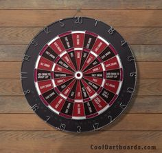 Drinking Game Fun Word Dart Boards. Comes in many color choices. #cooldartboard #dartboard http://cooldartboards.com/drinking-game.html