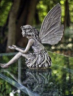 Online shopping for Outdoor Statues from a great selection at Patio, Lawn & Garden Store. Fairy Statues, Garden Statues, Fairy Figurines, Fairy Dust, Fairy Land, Dream Garden, Garden Art, Moon Garden, Garden Design