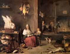 Kitchen, 1644 David Teniers the Younger