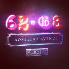 Rosebery Avenue launch this evening. Neon version of our logo... #londonewcastle