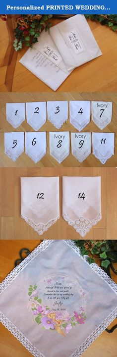 Personalized PRINTED WEDDING Handkerchief, Mother of the Bride handkerchief, Dressed in lace and pearl-BABY girl, Custom. LS4FCAC by Snugahug. Mother of the Bride handkerchief makes a wonderful wedding keepsake for mom or wedding favor for special guests Custom saying available. See below on how to order with your own custom message. ●▬▬▬▬▬▬▬▬▬▬●✿ LISTING ITEM ✿●▬▬▬▬▬▬▬▬▬▬● 1 Personalized Hanky shown in FIRST picture. VERSE: Mom, Although I am now grown up dressed in lace and pearls....