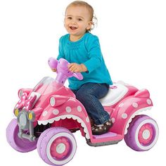 Kid Trax Disney Minnie Mouse Hot Rod Quad 6-Volt Battery-Powered Ride-On