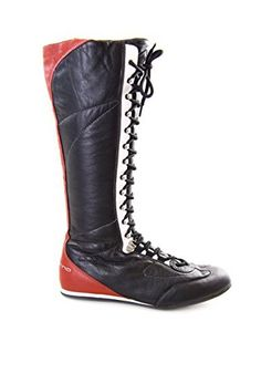 Fornarina Vintage Leather High Boots with Strings and Zipper black) High Leather Boots, High Boots, Partner, Vintage Leather, Riding Boots, Zipper, Best Deals, Link, Shoes