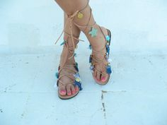 Boho Sandals/Leather Gladiator Sandals/Womens by EATHINI on Etsy