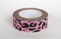 Leopard Craft Tape, Pink Craft Tape, Planner Stickers, Decorative Craft Tape, Scrapbook Embellishment, Gift Wrap Tape by TiddleywinksDesigns on Etsy