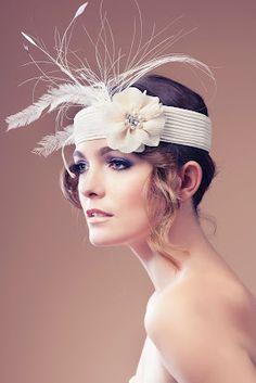 #Tocado #novia de Merchemart. #Tocados y #sombreros en @BijouPrivee .