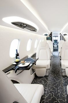 luxury life, private jet, first class Jets Privés De Luxe, Luxury Jets, Luxury Private Jets, Private Plane, Luxury Yachts, Private Jet Interior, Luxury Interior, Interior Design, Aircraft Interiors