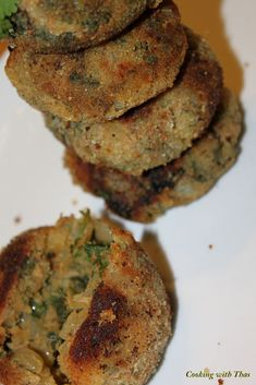 Tuna Spinach Cakes or Cutlets | Cooking with Thas