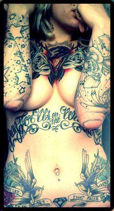 Tattoos girl tattoos, swallows, tattooink, traditional tattoos, stars, art, body tattoos, tattoo patterns, tattoo ink