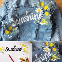 Another painted denim jacket, this time for a gorgeous little bridesmaid! You can have their names painted on the back with your flowers and colours - an amazing forever gift and will look great on your wedding day! Contact us for your commission.