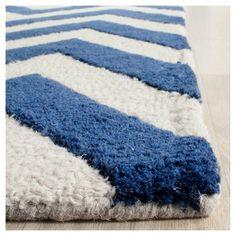 Dalton Textured Rug - Navy / Ivory (6' X 6' Square) - Safavieh, Blue/Ivory