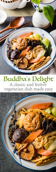 The recipe teaches you all the tips to create your own version of this healthy delicious vegetable stew - Buddha's Delight (Jai, Chinese Vegetarian Stew) | omnivorescookbook.com