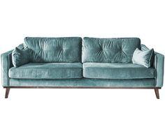 Samt-Sofa Almana (3-Sitzer)