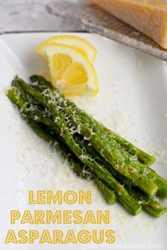 Parmesan Garlic Asparagus. Girl and the Kitchen.  A quick side dish with lots of bright flavors and colors.
