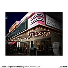 Cinema Lights Postcard
