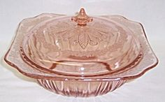Jeannette Pink ADAM 9 Inch Covered VEGETABLE BOWL