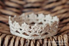Tiny Crochet Princess Crown, photo prop, newborn prop, Crochet by Allie