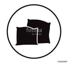 Vector Cartoon Pillow Silhouette Illustration