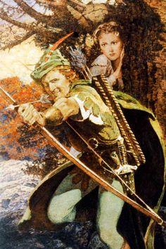 Warner Bros' The Adventures of Robin Hood Ad Art featuring Errol Flynn as Robin Hood (Sir Robin of Locksley) and Olivia de Havilland as Maid Marian (Lady Marian Fitzswalter). Turner Classic Movies, Classic Films, Old Movies, Great Movies, Robin Robinson, Robin Hood, Maid Marian, Olivia De Havilland, Cinema Posters