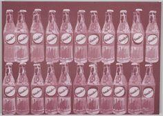 Nicolas NOVERRAZ                        Sérigraphie 22 Sinalco négatif bordeaux Andy Warhol, Oeuvre D'art, Les Oeuvres, Bordeaux, Bottle, Artist, Bordeaux Wine, Flask, Jars