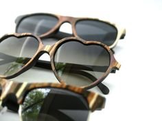Spring Sunglasses of the Month Club - Wood Veneer Patchwork