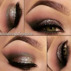 Wow I love this taupe glittery eye makeup!!! I can see it on my grand girls with their hazel eyes!!! They are gorgeous already and with this eye shadow, Oh My!! Watch out boys!! Haha!